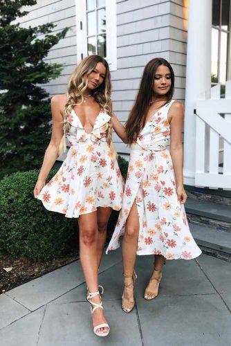 White V-Neck Summer Dress #shortdress #vneckdress