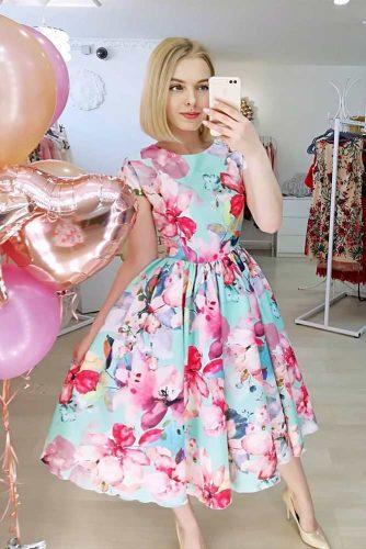 Beautiful Bright Colored Floral Dress #bluedress #summerdress