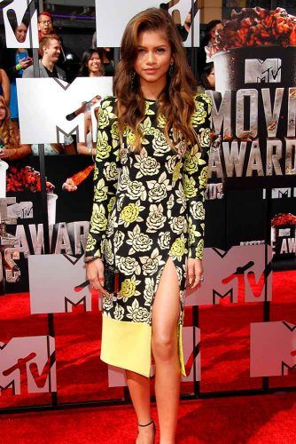 High Low Wrap Midi Dress With Long Sleeves #zendayacoleman #stylishdress
