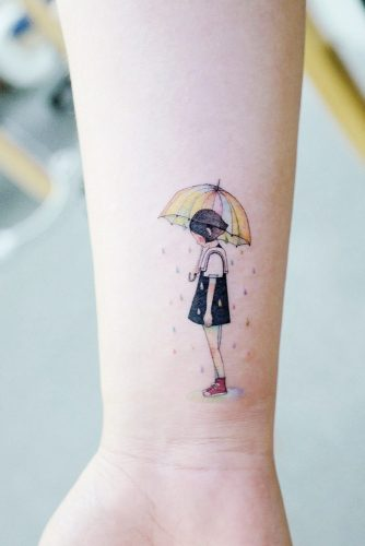 Little Girl Tattoo Design #girltattoo