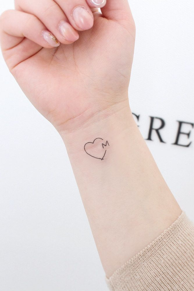 Heart With Letter Tattoo Design #hearttattoo
