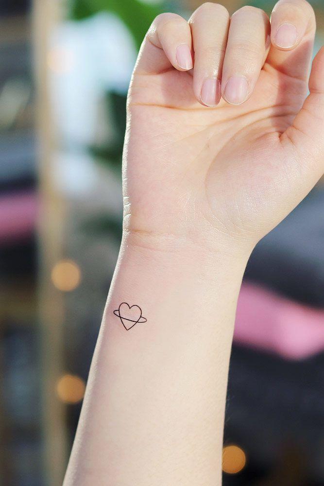 Outline Heart Tattoo Design #hearttattoo