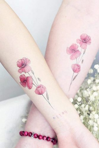 Poppy Flowers Tattoo Design #flowertattoo