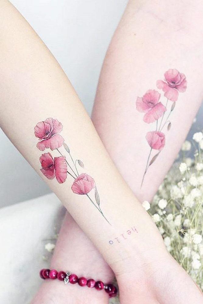 Poppy Flowers Tattoo Design #flowertattoo