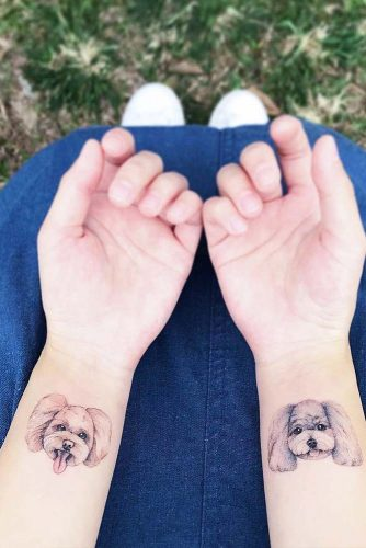 Small Wrist Tattoos With Pets