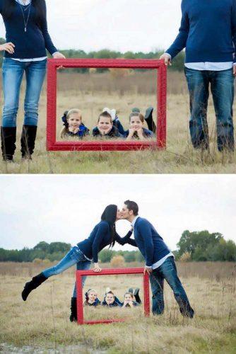 Using Frames Or Chalkboard #framephoto #kidsphotography