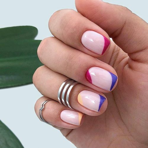Trendy Form Of French Tips #colorfulnails #colorfulfrenchnails