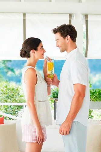 Treat Her To A Drink #eyescontact #smiles