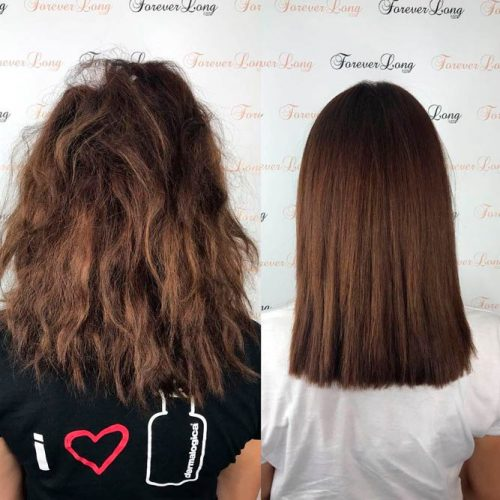 Dream About Glossy Straight Hair A Keratin Treatment Is The Answer #brownhair #beforeandafter