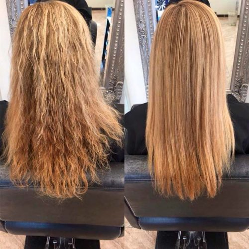 Keratin Treated Hair Care #blondehair #longhair