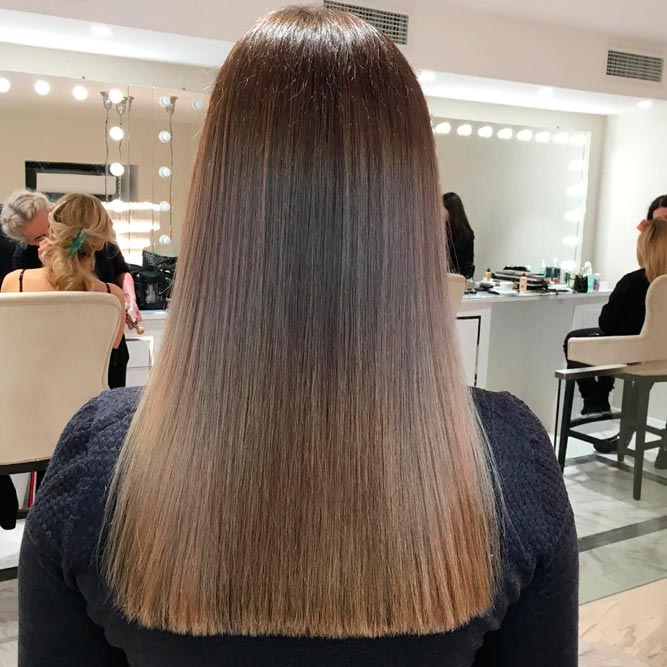 Dream About Glossy Straight Hair A Keratin Treatment Is The Answer #brownhair #longhair