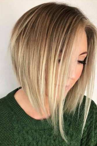 Medium Face-Framing Bob Hairstyle #blondebob #shortbob