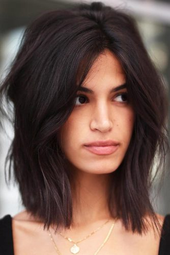 Messy Shoulder Length Bob #bob #layeredhair #messyhair