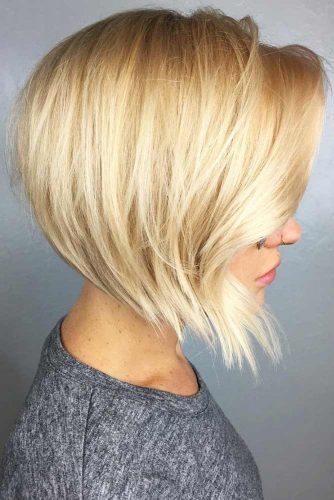 Short A-Line Layered Bob #bob #shorthair #layeredhair