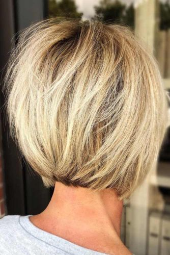 Subtle Undercut Layered Short Bob #bob #layeredhair #shorthair