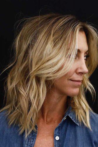 Layered Bob Haircut For Fine Hair #finehair #blondebob