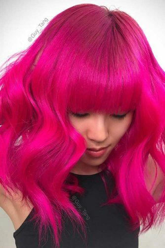 Hot Pink Hairstyle #pinkhaircolor