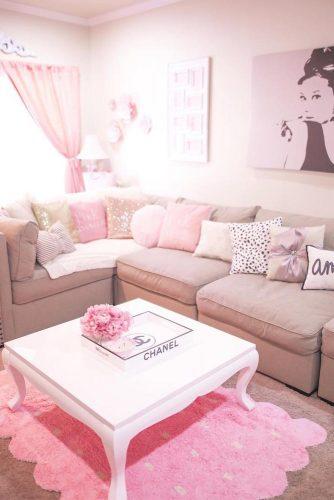 How To Use A Pink Color For Interior Design #livingroom