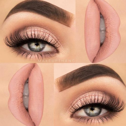 Everyday Makeup Idea In A Pink Color #everydaymakeup