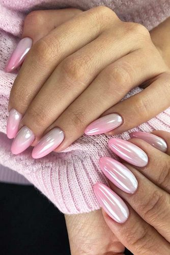 Pink Ombre Nail Design #ombrenails