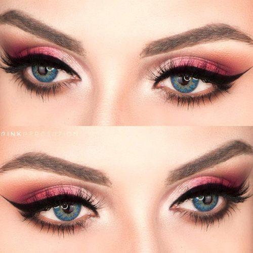Pink Smokey Eyes Makeup Idea #smokeyeyes