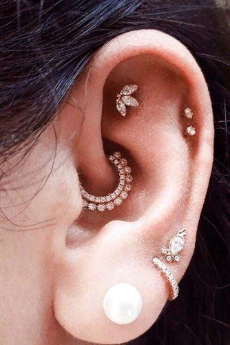 Helix (Cartilage) And Daith Piercings #helixearpiercings #daithpiercing