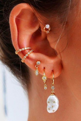 Multiple Piercings With Gold Jewelry #multiplepiercings #piercings
