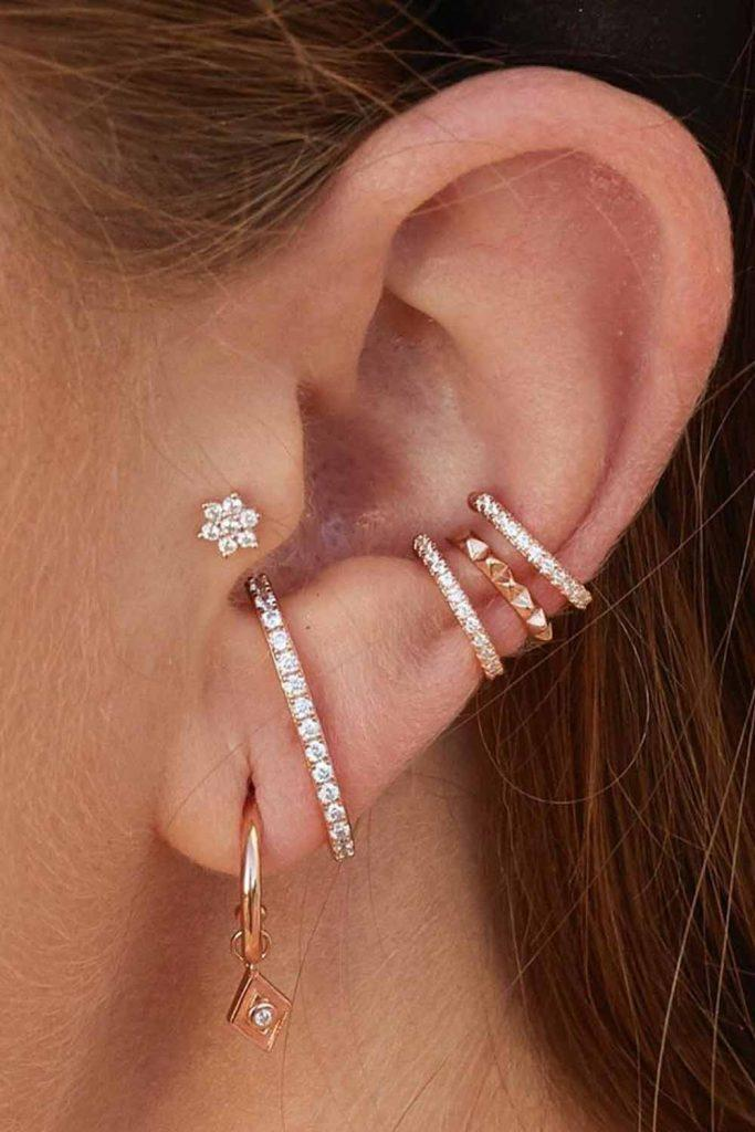 Should Ear Piercings Be Symmetrical? #hugring #earrings