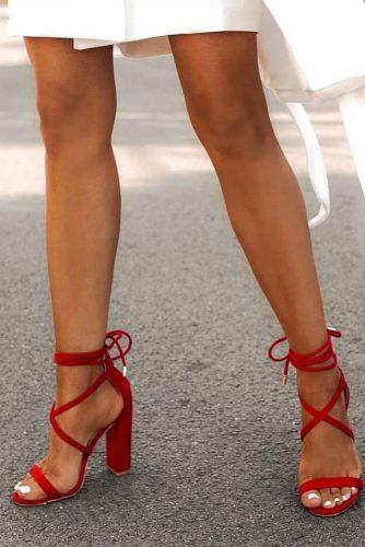 Hot Red Chunky Heels #chunkyheels #blockheels