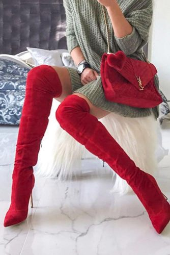 Over The Knee Red Heels #overthekneeboots