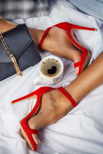 Hot Red Stiletto Sandals #stilettosandals