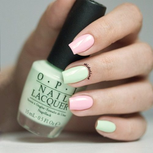 Soft Pastel Combination To Embrace Your Beauty #squarenails #pastelnails #sweetnails