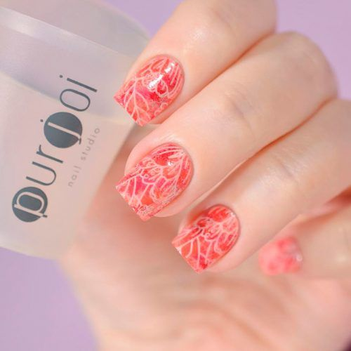 Bright Red Orange Shade For Bold Girls #brightnails #shortnails