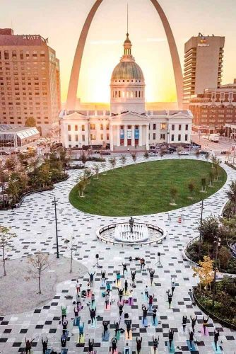 Take Part At Free Yoga Class In Kiener Plaza #freeyoga
