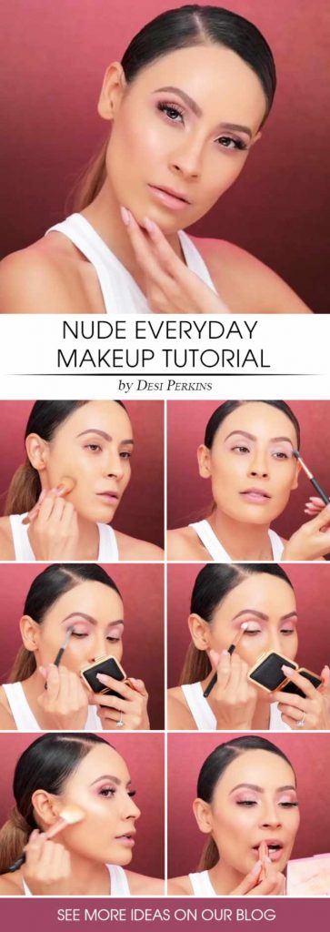 Nude Makeup Tutorial For Every Day #everydaymakeup