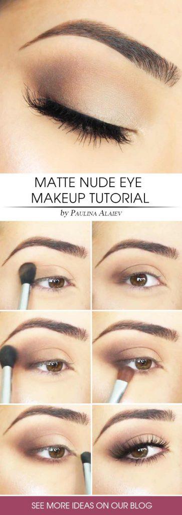 Matte Eyes Makeup Tutorial #eyesmakeup