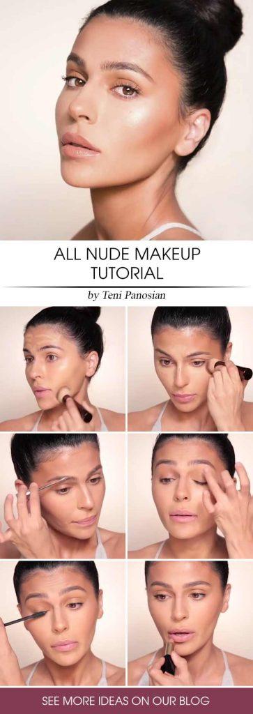 All Nude Makeup Tutorial #stepbystepmakeup