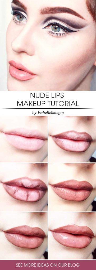 Nude Lips Makeup With Gloss #lipgloss #nudelipstick