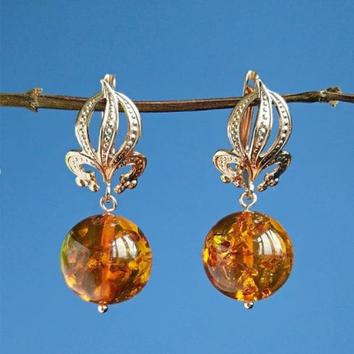 Amber Earrings Design #earringsdesign