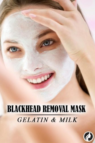 How To Remove Blackheads With Gelatin And Milk #diymask