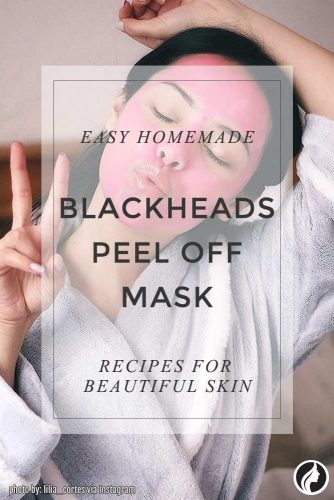 DIY Blackhead Removal Mask With Turmeric, Peppermint And Frankincense #homemademask
