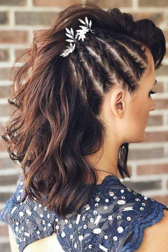 Braided Side Faux Hawk #braids #fauxhawk