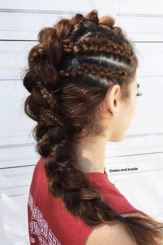 Fohawk With Dutch Braids #dutchbraid #braidedhairstyle