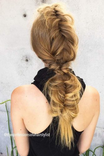 Faux Hawk With A Fishtail Braid #fishtailbraid #longbraid