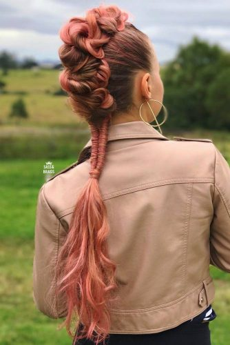 Faux Hawk Hairstyle For Fine Hair #ponytailhairstyle #rosehair #longhair