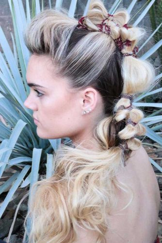 Ponytail Faux Hawk For Messy Hair #ponytail #blondehair
