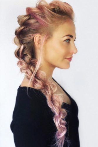 Rope Faux Hawk Braid #braids #fauxhawk