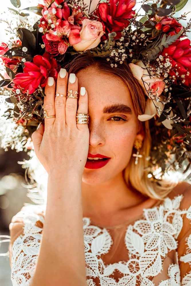 Boho Flower Crown Design For Bride #bohocrown #wedding