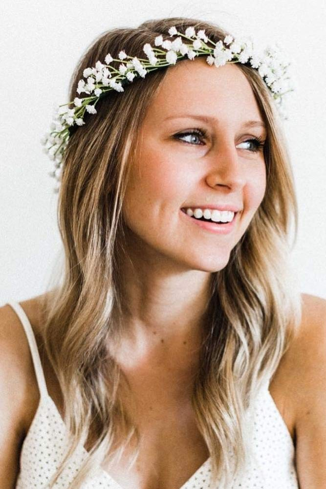 Simple Flower Crown For Bridesmaids #simplecrown #wedding