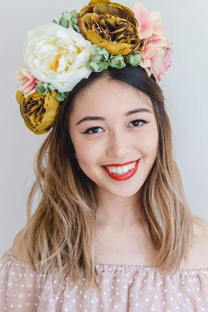Fake Flower Crown For Any Occasion #peony